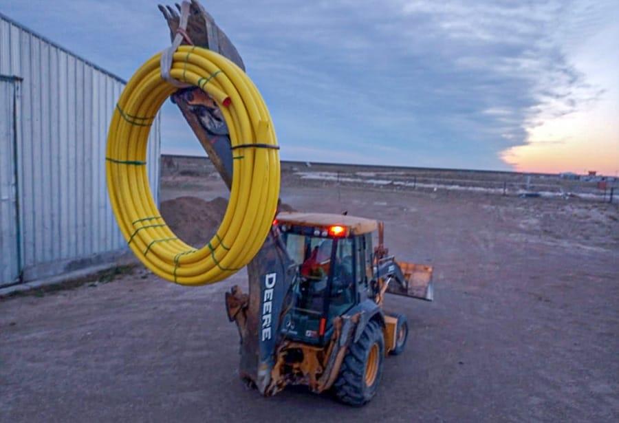 Entrega de materiales para extensiones red de gas - Gobierno de Santa Cruz