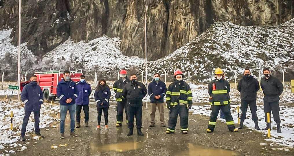 Simulacro de incendio El Chaltén Distrigas S.A. Gobierno de Santa Cruz